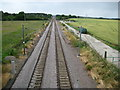 TL3745 : Meldreth: Railway line to Royston by Nigel Cox