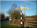 SJ9244 : Old signpost at Hulme Road junction by Chris Beaver