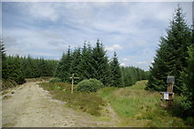 NX2170 : Southern Upland Way near Muirglass by Leslie Barrie
