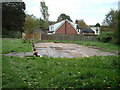 SJ9242 : Site of Normacot Parish Church Hall. by Chris Beaver