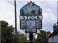 TQ6898 : Stock Village Sign by Adrian Cable