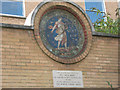 TQ3279 : The Sower mosaic, Red Cross Gardens by Stephen Craven