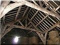 SE2306 : Inside the Tudor barn at Gunthwaite Hall by Wendy North