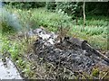 SE2804 : Burning household refuse near Blacker Dam by Wendy North