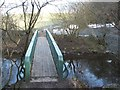 NS6760 : Footbridge over the Rotten Calder by Lairich Rig