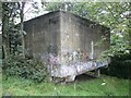 SE1422 : Concrete structure at the top of Dick Bank, Rastrick by Humphrey Bolton