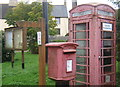 TL0775 : Telephone box and postbox, Molesworth by Andrew Hill
