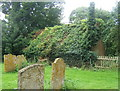 TL0775 : Ivy-clad outbuilding by St Peter's churchyard by Andrew Hill