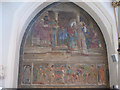 TQ3372 : Poynter's fresco, St Stephen's, South Dulwich by Stephen Craven