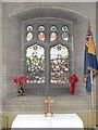 SJ3657 : Memorial window, St Mary's Church, Rossett by Eirian Evans