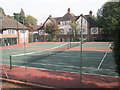 SP0384 : The tennis courts within Harborne Tenants Ltd nucleus at The Circle by Basher Eyre