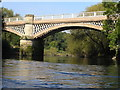 SJ5112 : River Severn, Belvidere railway bridge by kevin skidmore