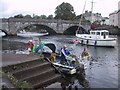 SX8060 : Water Taxi on the River Dart, Totnes by Sarah Charlesworth