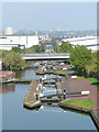 SP0788 : The Aston Flight, Birmingham and Fazeley Canal by Roger  Kidd