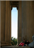 SJ3490 : South portico, St George's Hall by Alan Murray-Rust