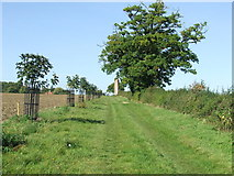 TL8240 : Approaching the folly by Keith Evans