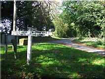 TL8240 : Road junction sign by Keith Evans