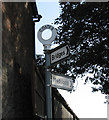 SO3995 : Signpost at Coates by Dave Croker