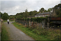 SK1373 : Bridges at Miller's Dale Station by Alan Murray-Rust
