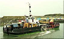 C8540 : Dredging Portrush harbour by Albert Bridge