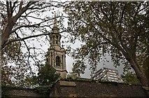 TQ3580 : St Paul's Church, The Highway, London E1 - Spire by John Salmon