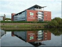 NS3421 : Ayr College Reflections by Mary and Angus Hogg