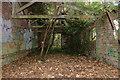 TQ0978 : Derelict building at Cranford Park by Andrew Hackney