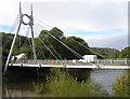 SJ6803 : River Severn,  Jackfield road bridge by kevin skidmore