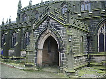 SD9828 : The Parish Church of Heptonstall, St Thomas a Becket & St Thomas the Apostle, Porch by Alexander P Kapp