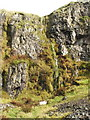 NS4376 : Small waterfalls at the top of the Long Crags by Lairich Rig