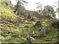 NS4376 : Modern cairns at the Long Crags by Lairich Rig