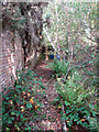 TG1623 : Wall along trench by Evelyn Simak