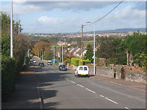 SS9077 : Looking down Wick Road, Ewenny by Andrew Hill