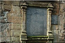 NS3321 : A restored memorial in the Auld Kirkyard by Mary and Angus Hogg