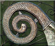 J5080 : The 'Curved Horn', Castle Park walled garden [detail] by Rossographer
