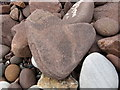 NC0328 : Heart shaped stone at the Bay of Stoer by Ulrich Hartmann