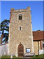 TM2247 : All Saints Church Tower, Little Bealings by Adrian Cable