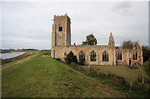 TF6013 : Ruined church of Wiggenhall St Peter by Bob Jones