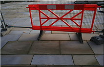SK3536 : New Paving and Temporary Fence by David Lally