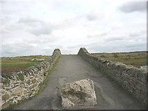 SH3568 : View eastwards across the single span Hen Bont Aberffraw by Eric Jones