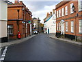TM3877 : The Thoroughfare, Halesworth & The Thoroughfare Postbox by Adrian Cable