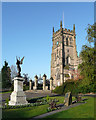SO8376 : St Mary's Church Tower, Kidderminster, Worcestershire by Roger  Kidd