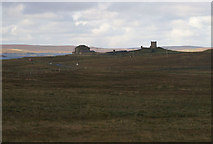 HU5892 : Brough Lodge, Fetlar, from the east by Mike Pennington
