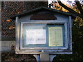 TM2556 : St Peter's Church Notice Board,Charsfield by Adrian Cable