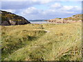 B7117 : Small cove and sand dunes - Tullyillan Townland by Mac McCarron