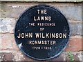 SJ6701 : Plaque: The Lawns, Broseley by Mike White