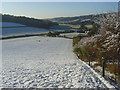 SU7791 : Pastures in snow, Fingest by Andrew Smith