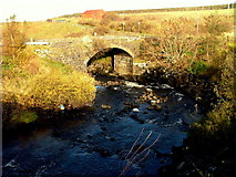 NG4867 : Old bridge over the Stenscholl River by Dave Fergusson