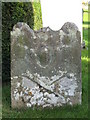 NY9967 : Old grave stone, Halton Church by Mike Quinn