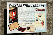 NY3090 : Westerkirk Library information board by Walter Baxter